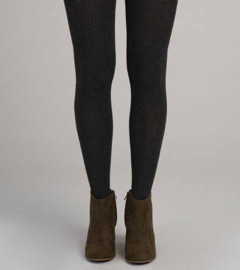 Cable Knit Wool Blend Tights by Hatley - Charcoal - F19BBL1335